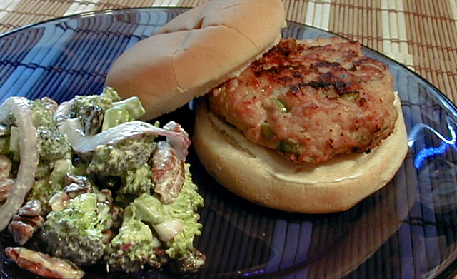 Scallion Sesame Turkey Burger Recipe