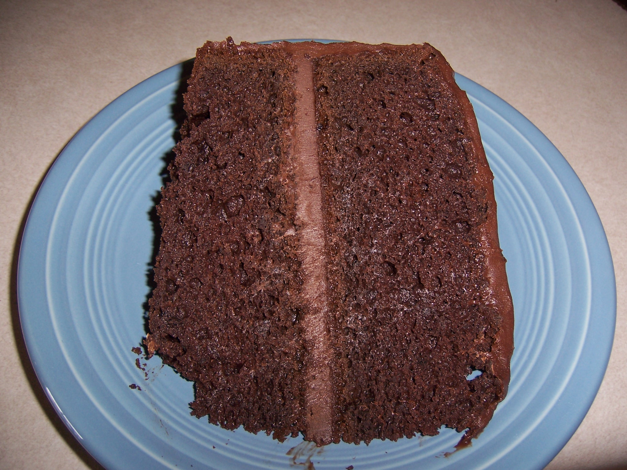 Really Easy  Moist Dark Chocolate Cake