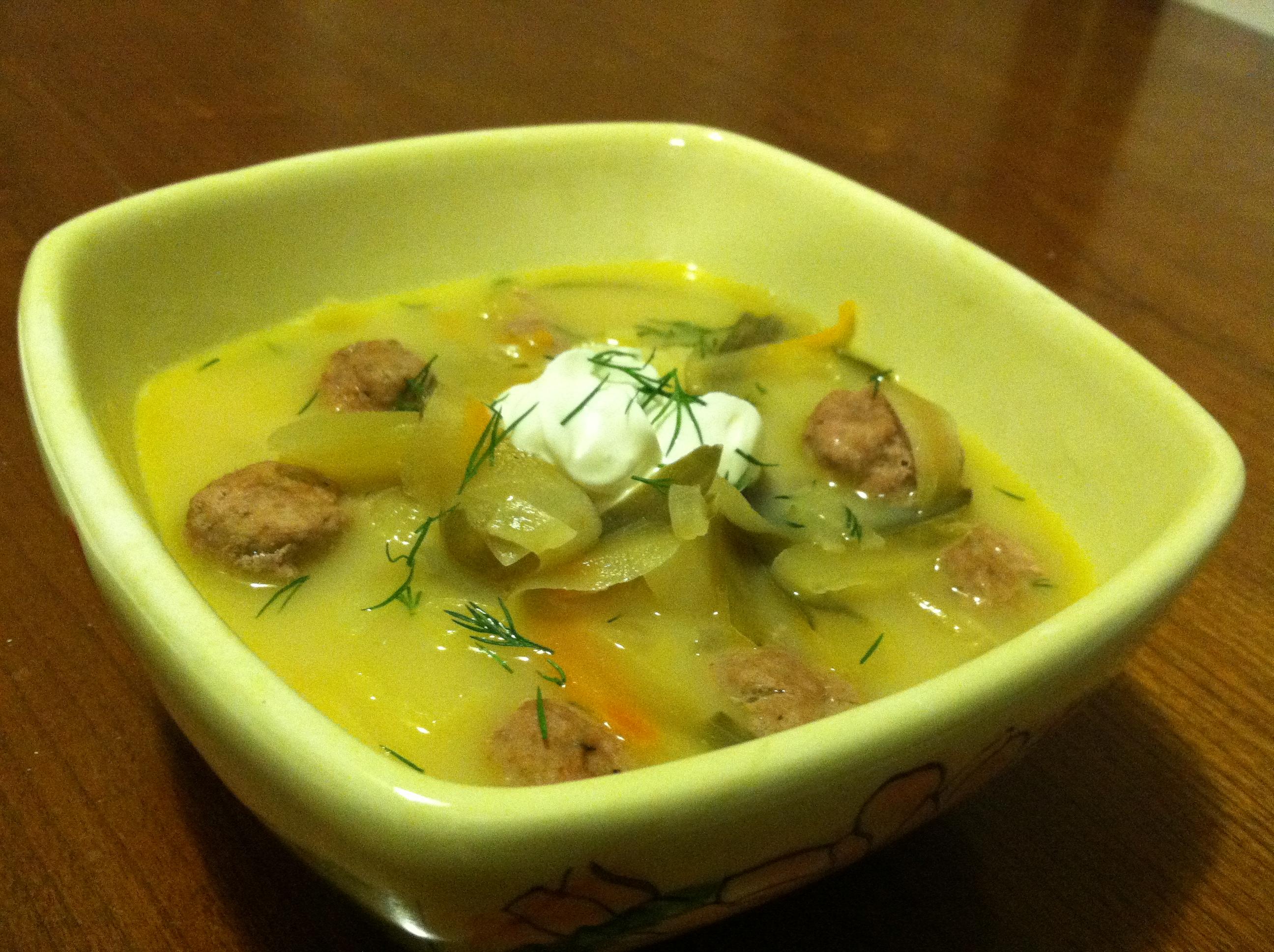 Суп из соленых огурцов рецепт 196