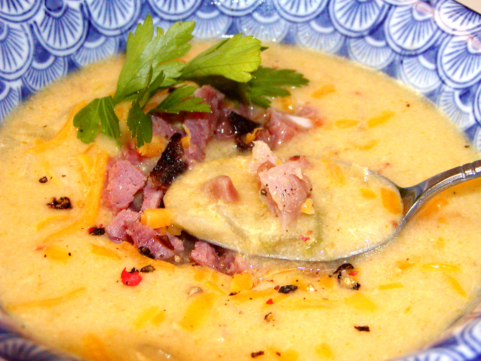 Potato, Ham, Onion, & Chipotle Soup