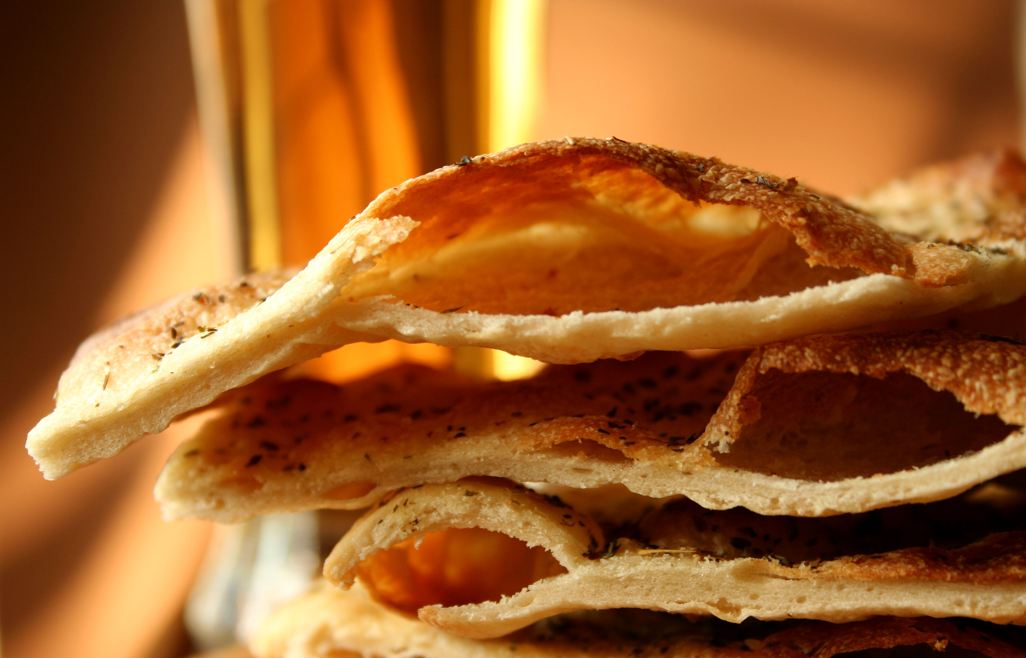 Crispy Beer Flat Bread Recipe