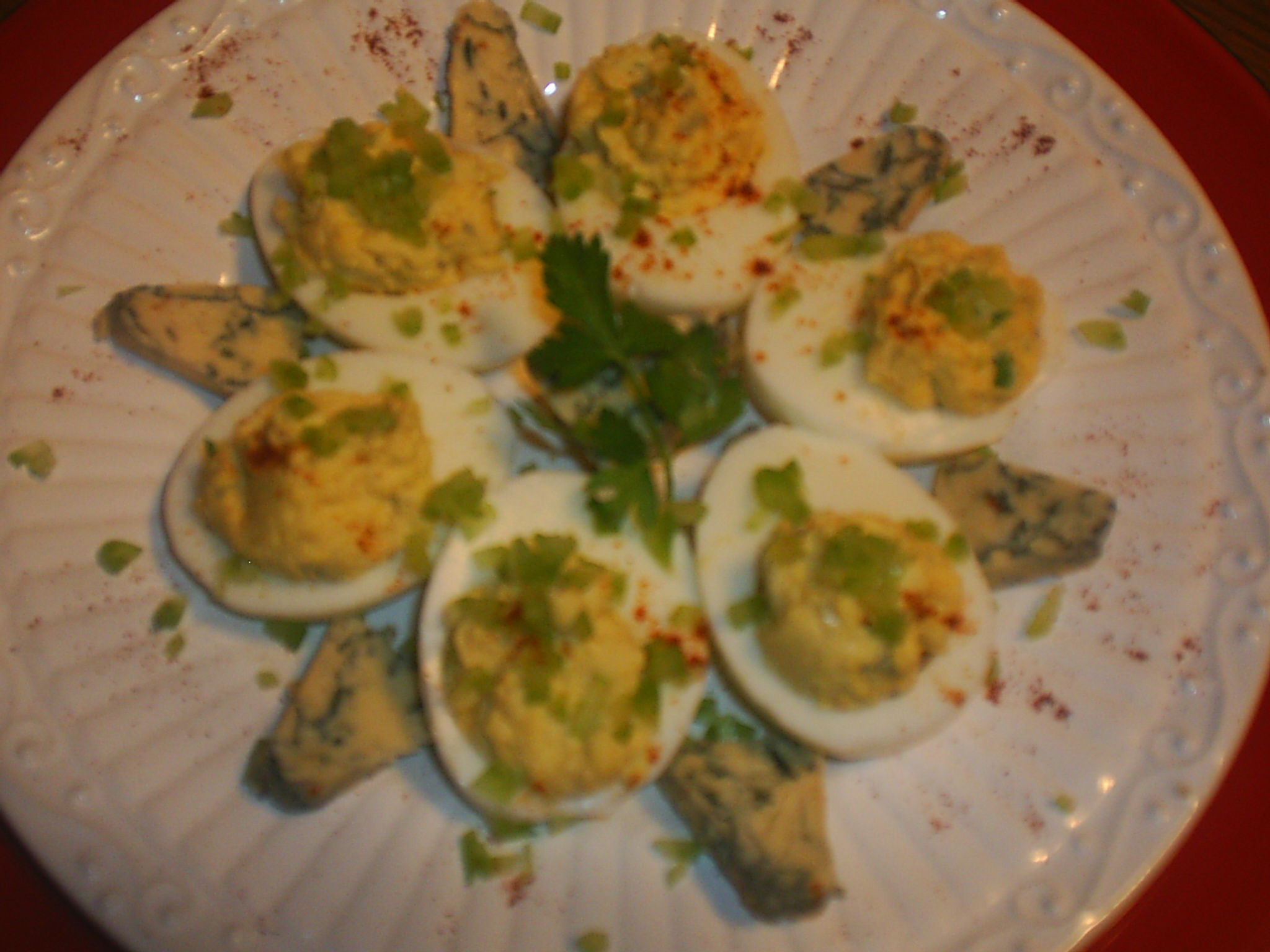 """buffalo"" Stuffed Eggs"