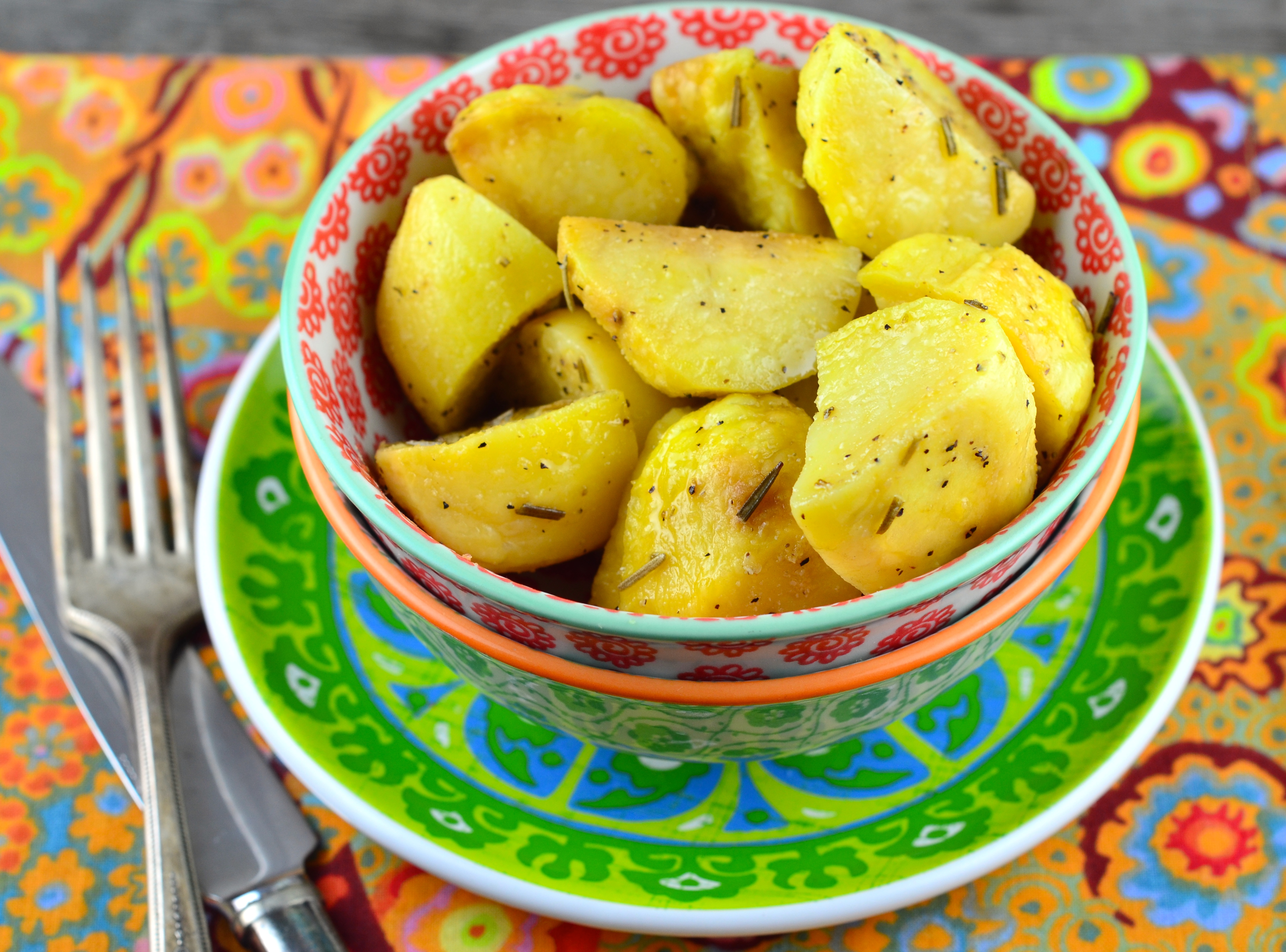 Rosemary Potatoes – Microwave