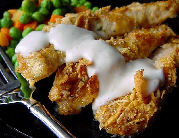 Breaded Ranch or Ranchero Chicken