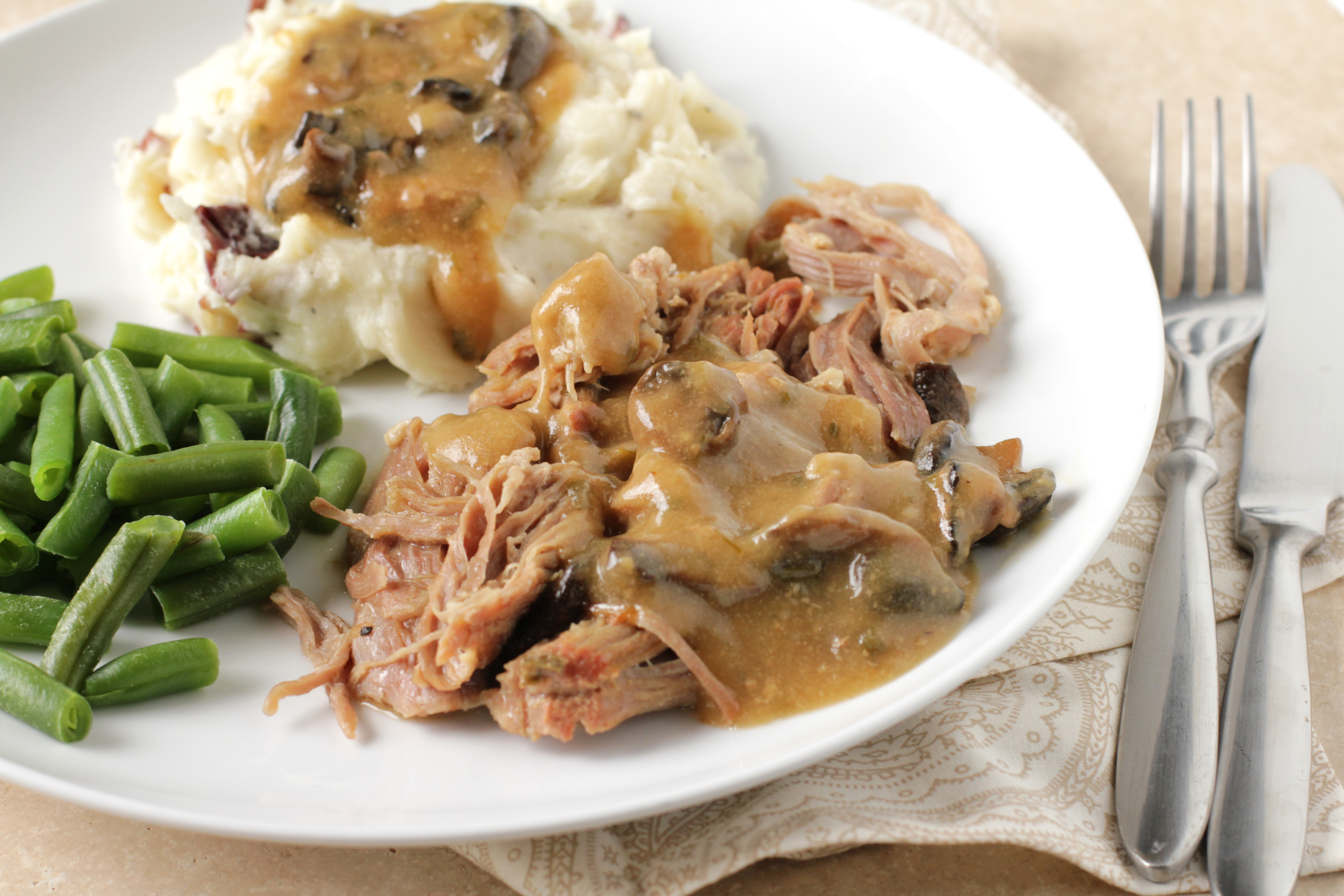 Crock Pot Pork Roast and Mushrooms Recipe