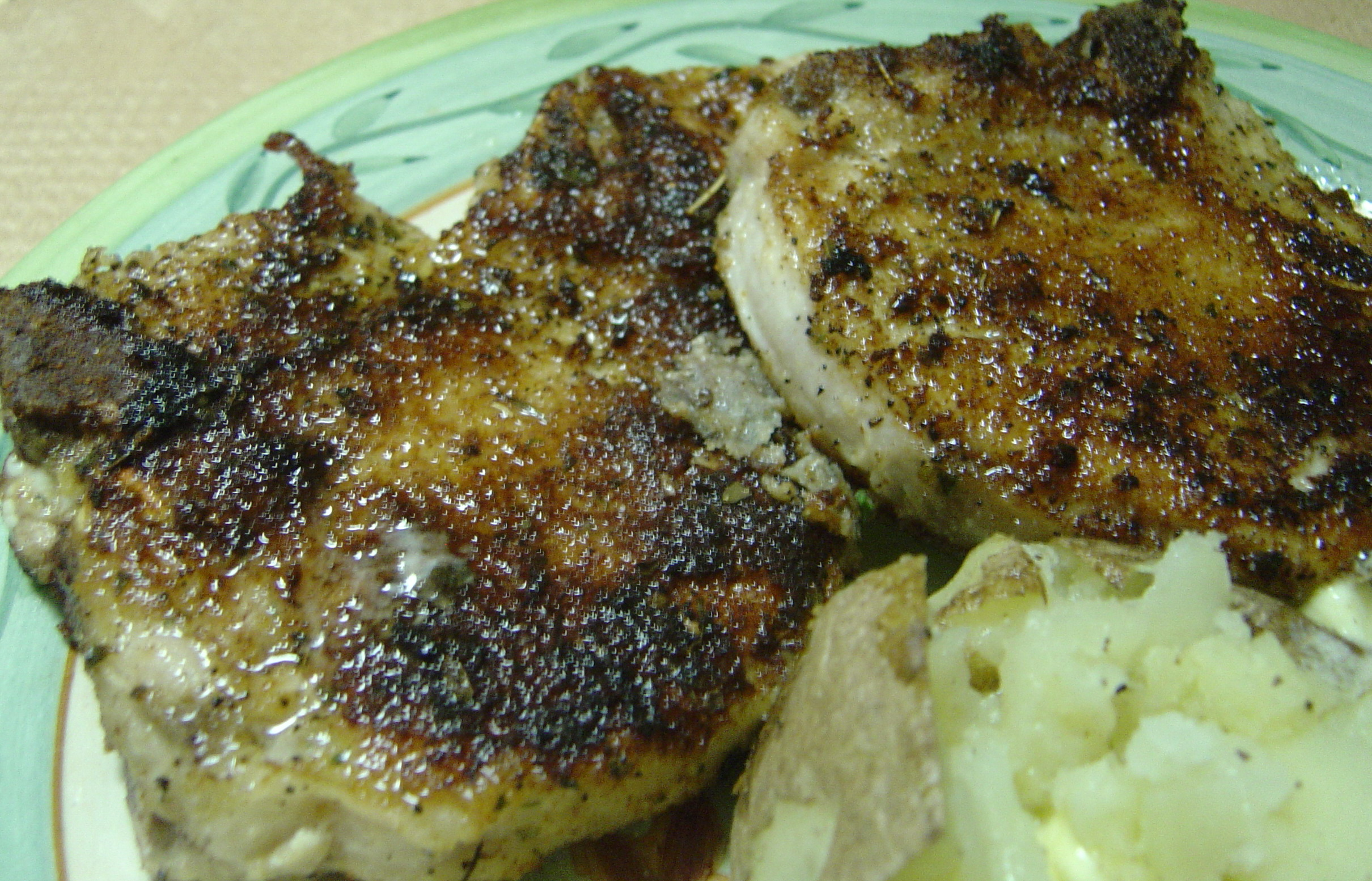 Linda's Seasoned Italian Baked Pork Chops