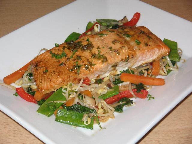 Baked Seasoned Salmon