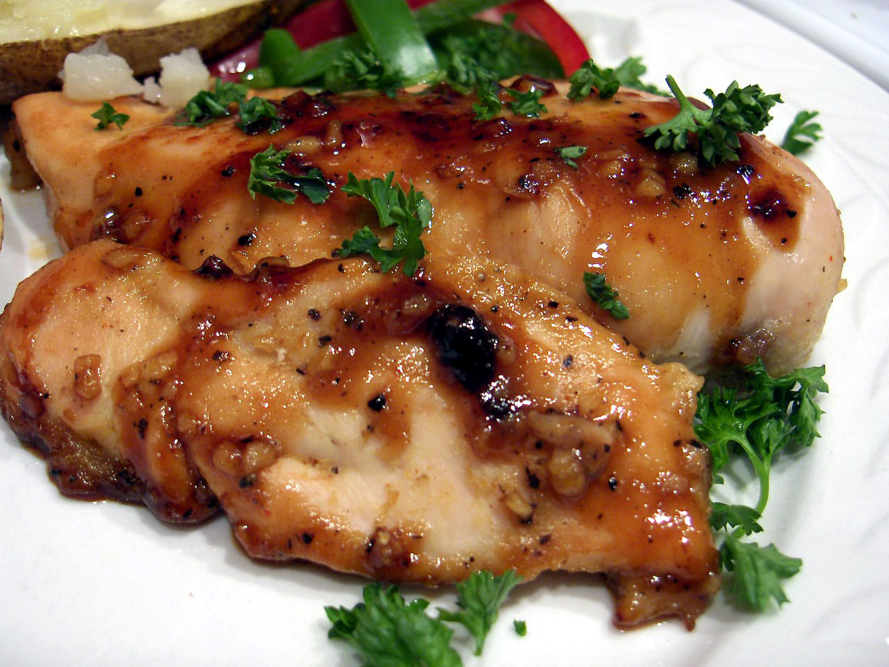 Ginger Me up Chicken! Low Fat Honey & Ginger Chicken Breasts Recipe