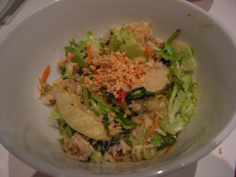Asian Brown Rice and Peanut Salad Toss