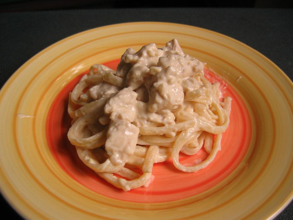 Chicken With Fettuccine Alfredo Recipe