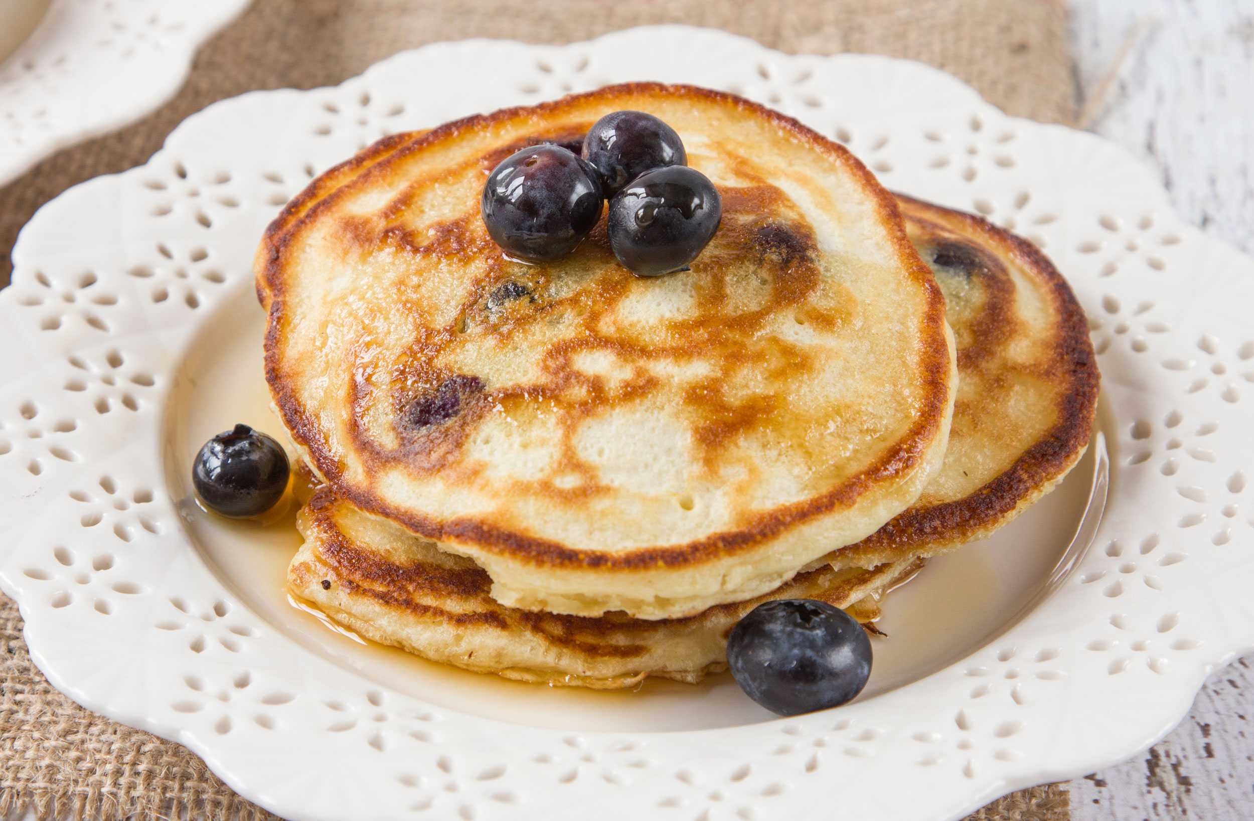 Blueberry Blueberry Sour Cream Pancakes