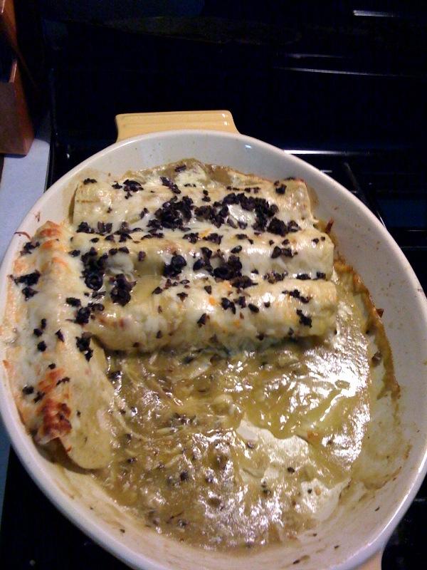 Chicken Chile Verde Enchiladas