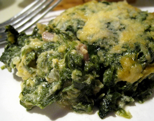 """How I got my family to eat spinach"" Spinach Casserole"