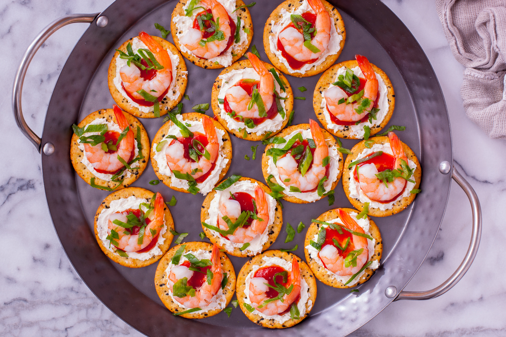 16 easy frozen shrimp recipes for a party genius kitchen for Mini prawn cocktail canape