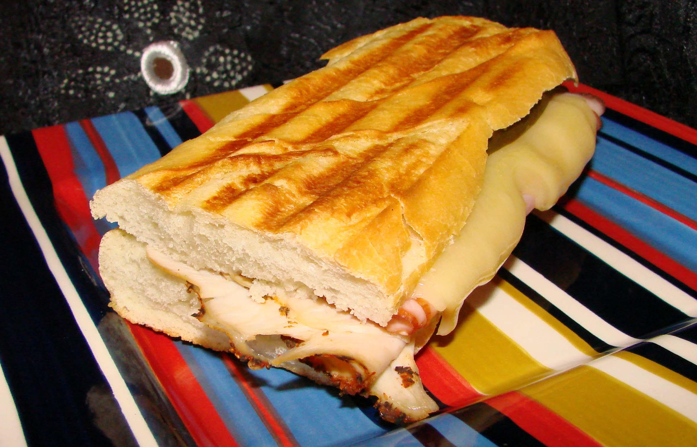 Turkey, Ham & Swiss Grilled Cheese