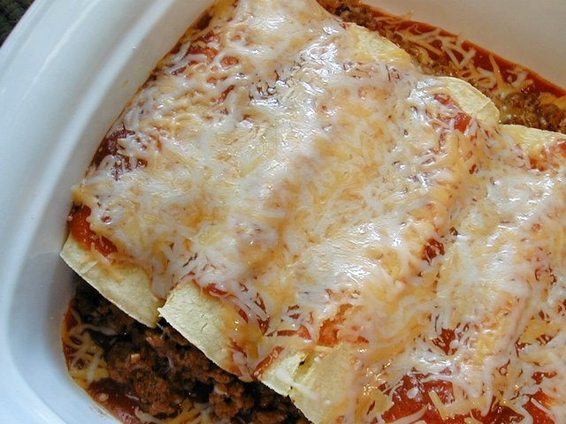 Easy Enchiladas (Beef or Chicken)