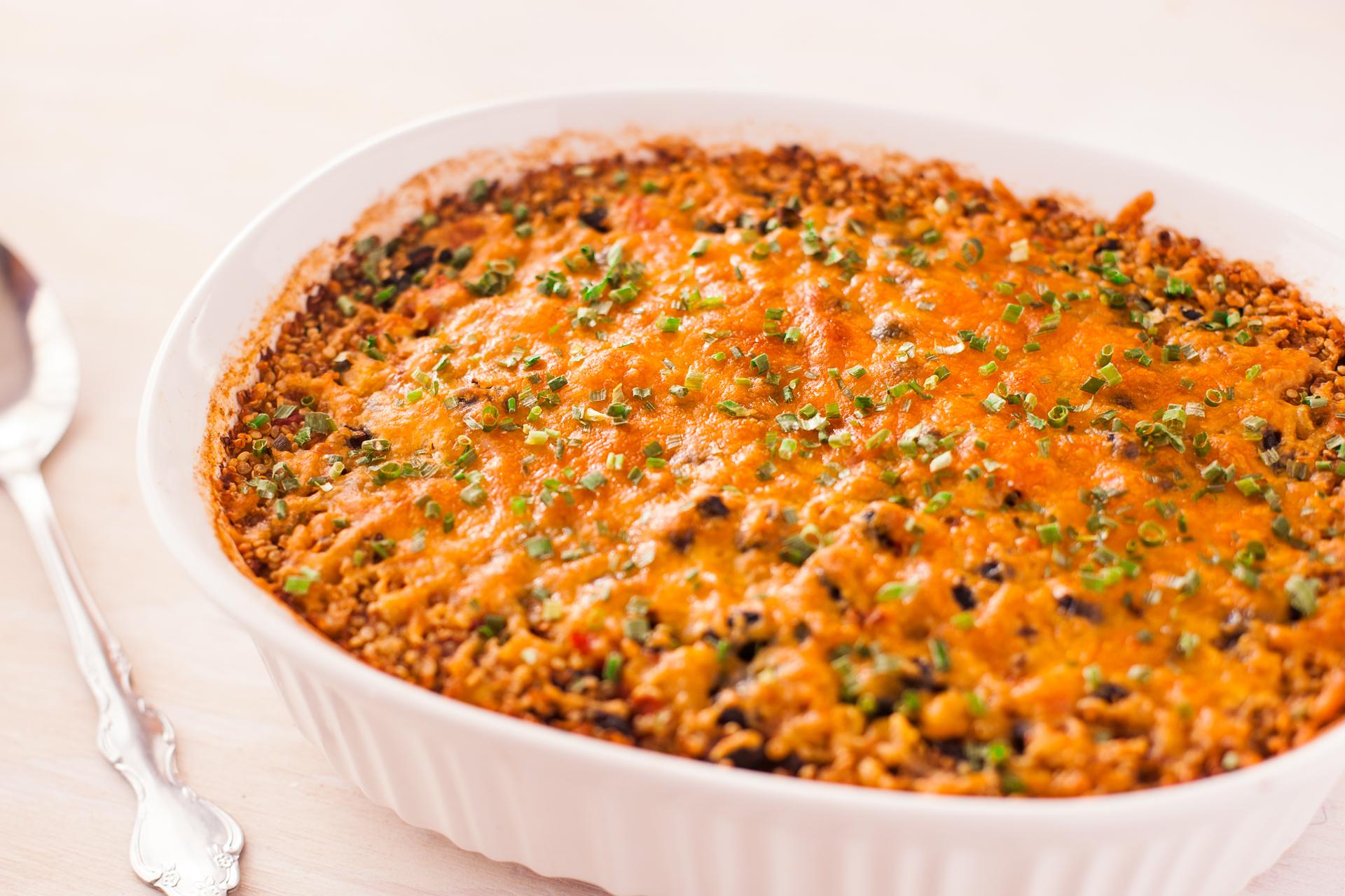 Southwestern Quinoa Vegetable Casserole