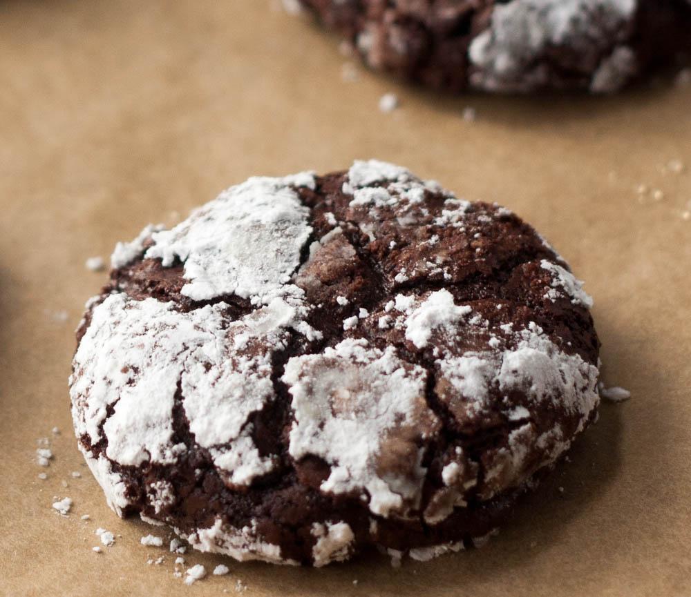 Flourless Deep Dark Chocolate Cookies