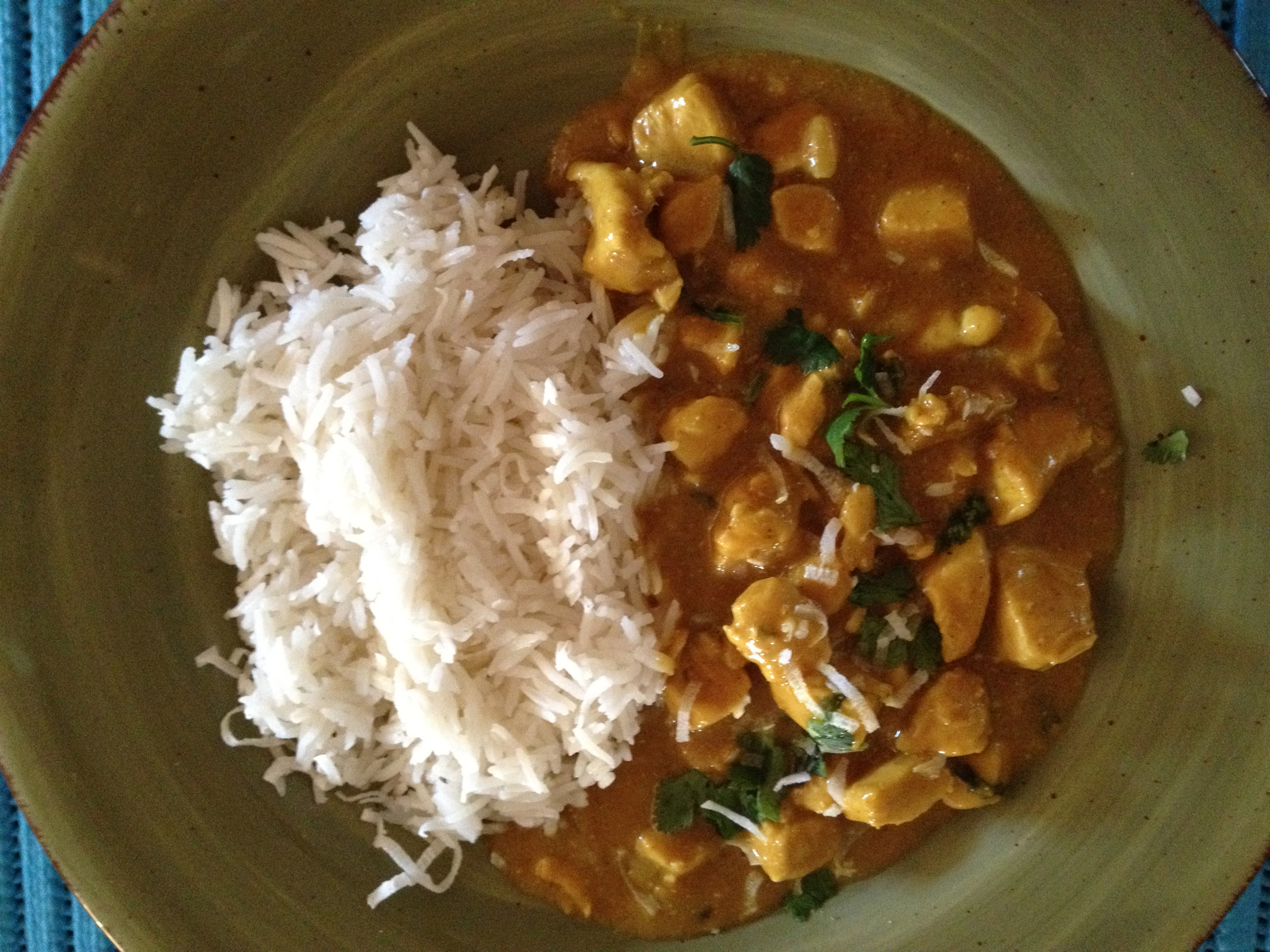 Curry Chicken with Coconut and Peanuts
