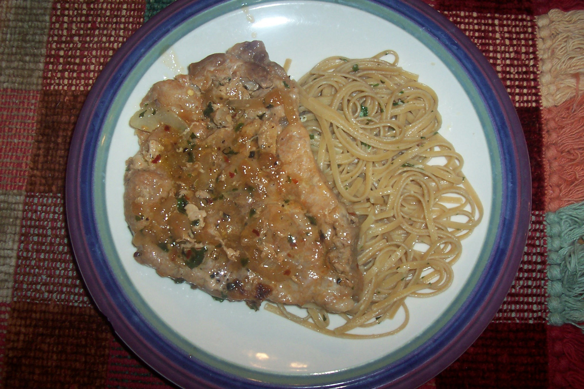 Veronica's Pasta Bianc (Pasta and Pork Chops)
