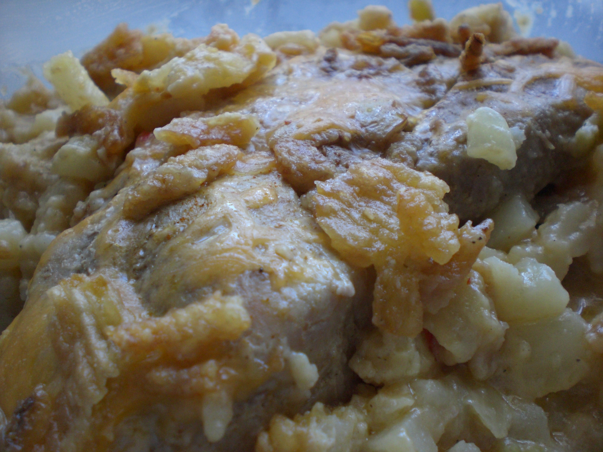 Pork Chop & O'brien Potato Bake