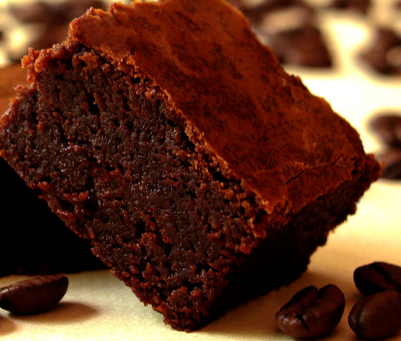 Super Fudgy Triple Chocolate Espresso Brownies