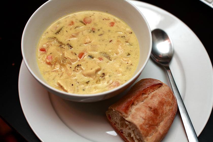 Copy-Cat Panera Cream of Chicken and Wild Rice Soup