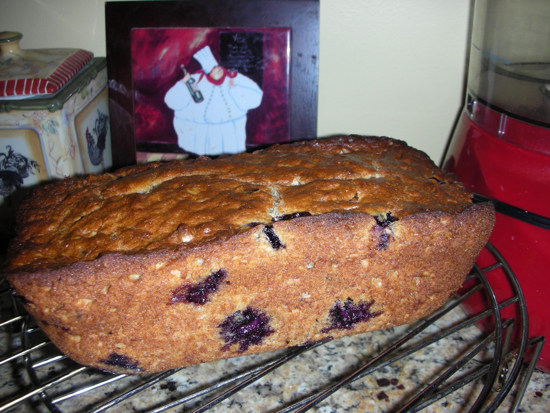 Banana Blueberry Oatmeal Bread
