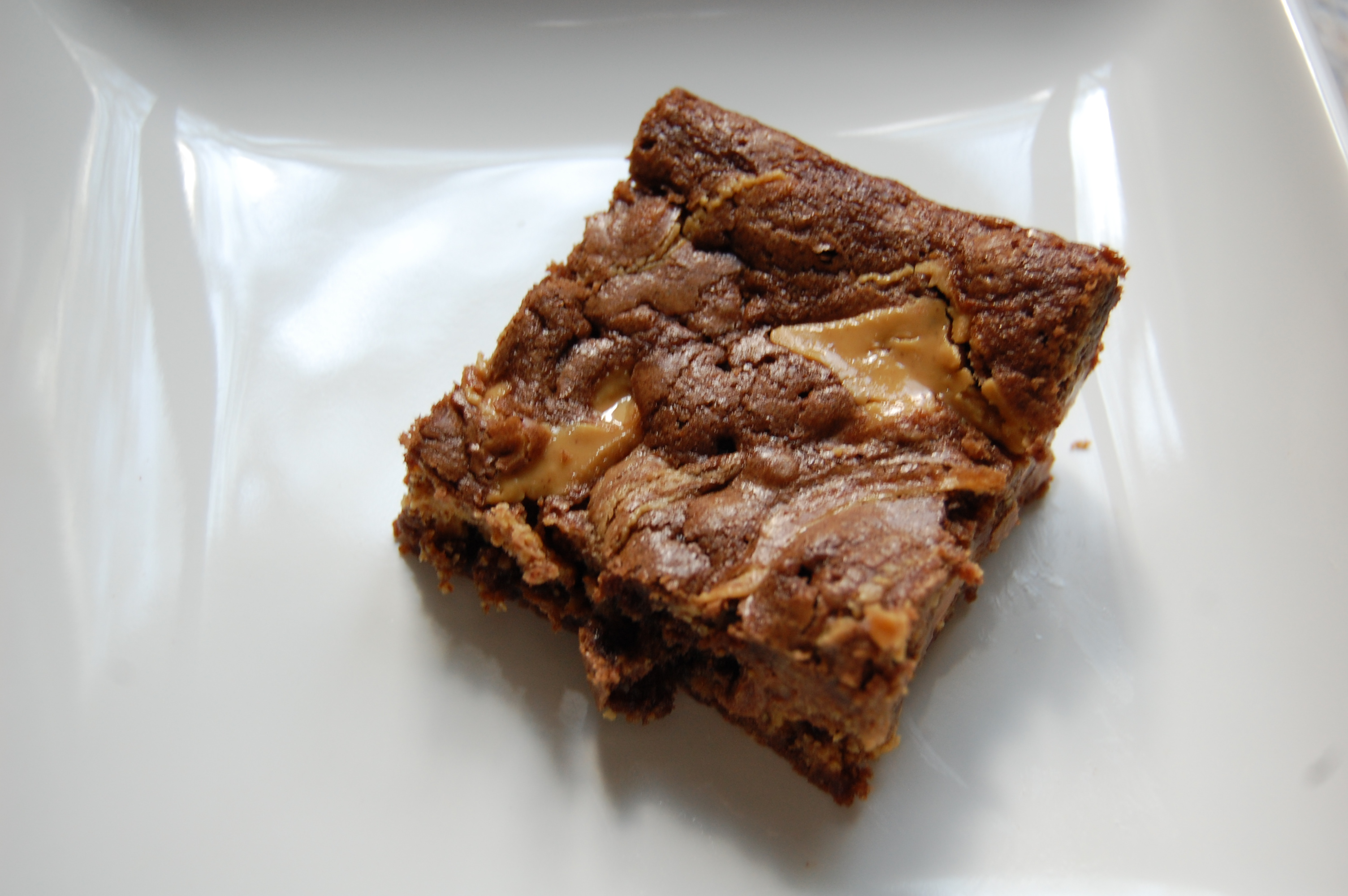 Natural Peanut Butter Swirl Brownies