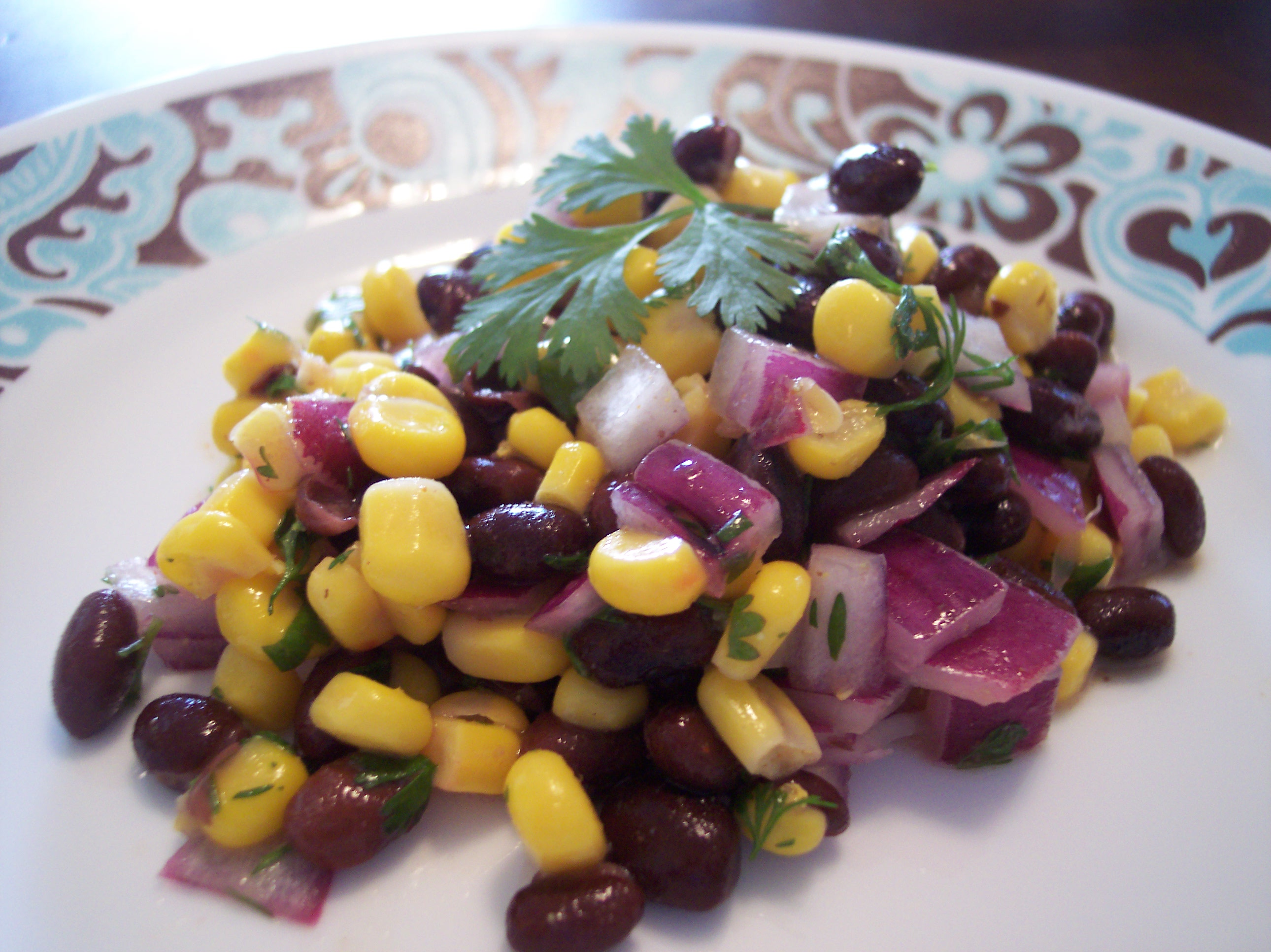 Very Low-Fat Black Bean And Corn Salad Recipe