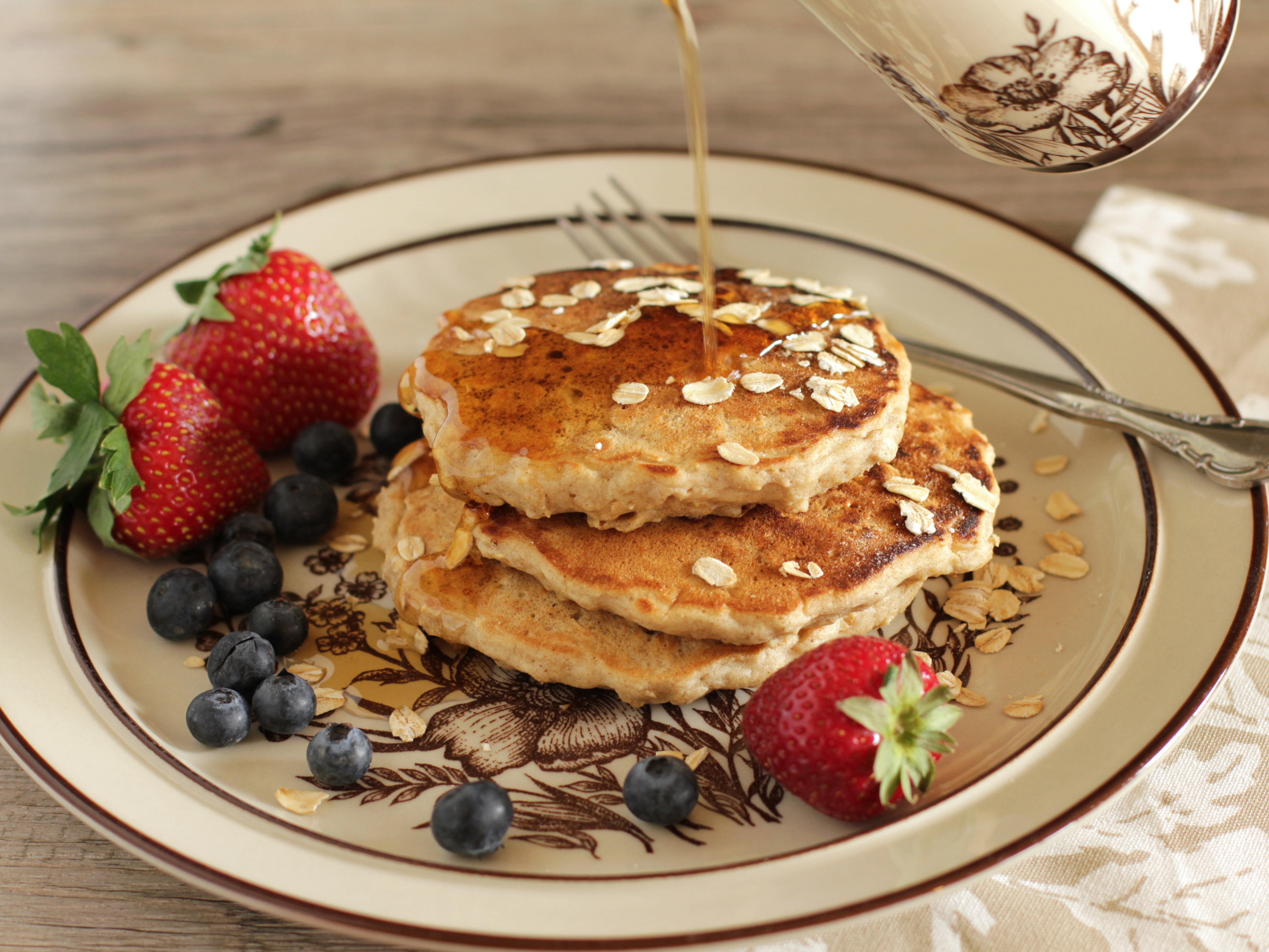 Family Favorite Oatmeal Pancakes
