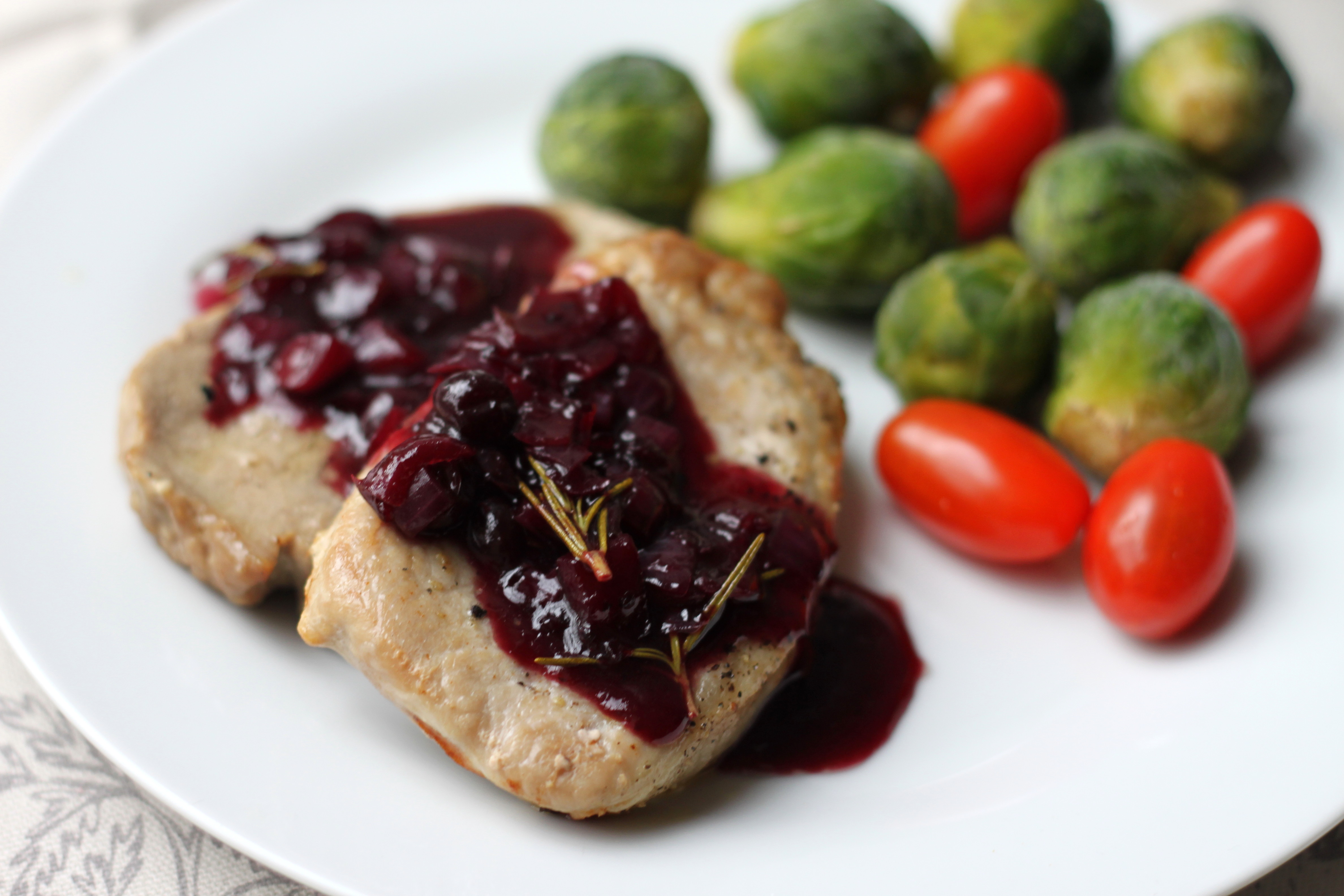 Pork Tenderloin With Balsamic-Cranberry Sauce Recipe