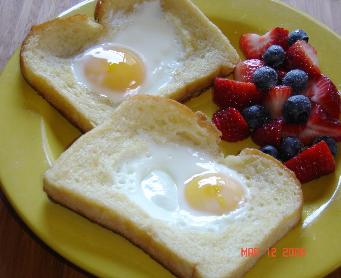 Eggs with Hats on Top Recipe