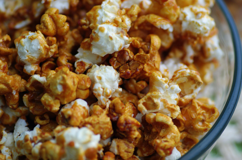 Caramel Popcorn (not too sweet or sticky)