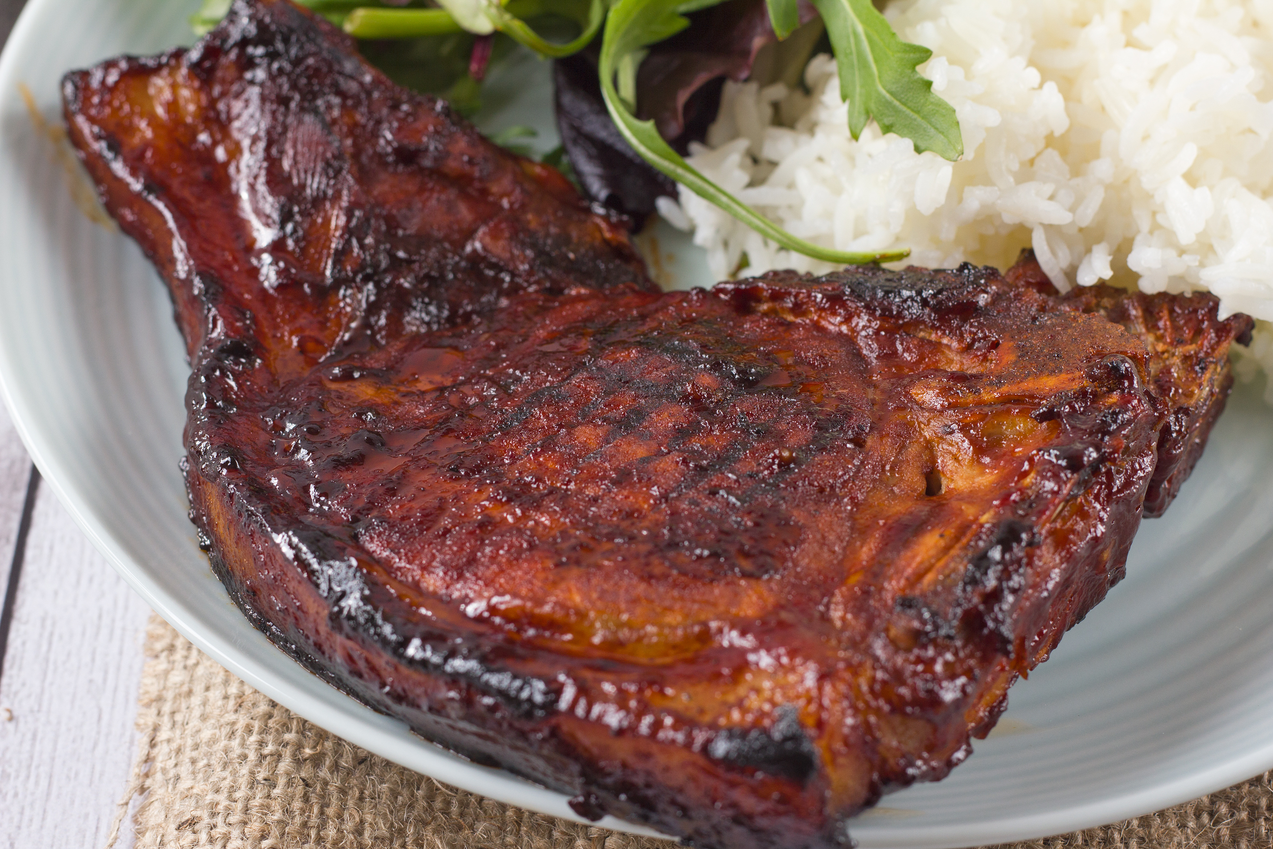 Grilled Honey Garlic Pork Chops
