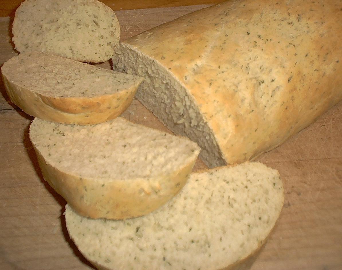 Bread Machine Garlic Bread