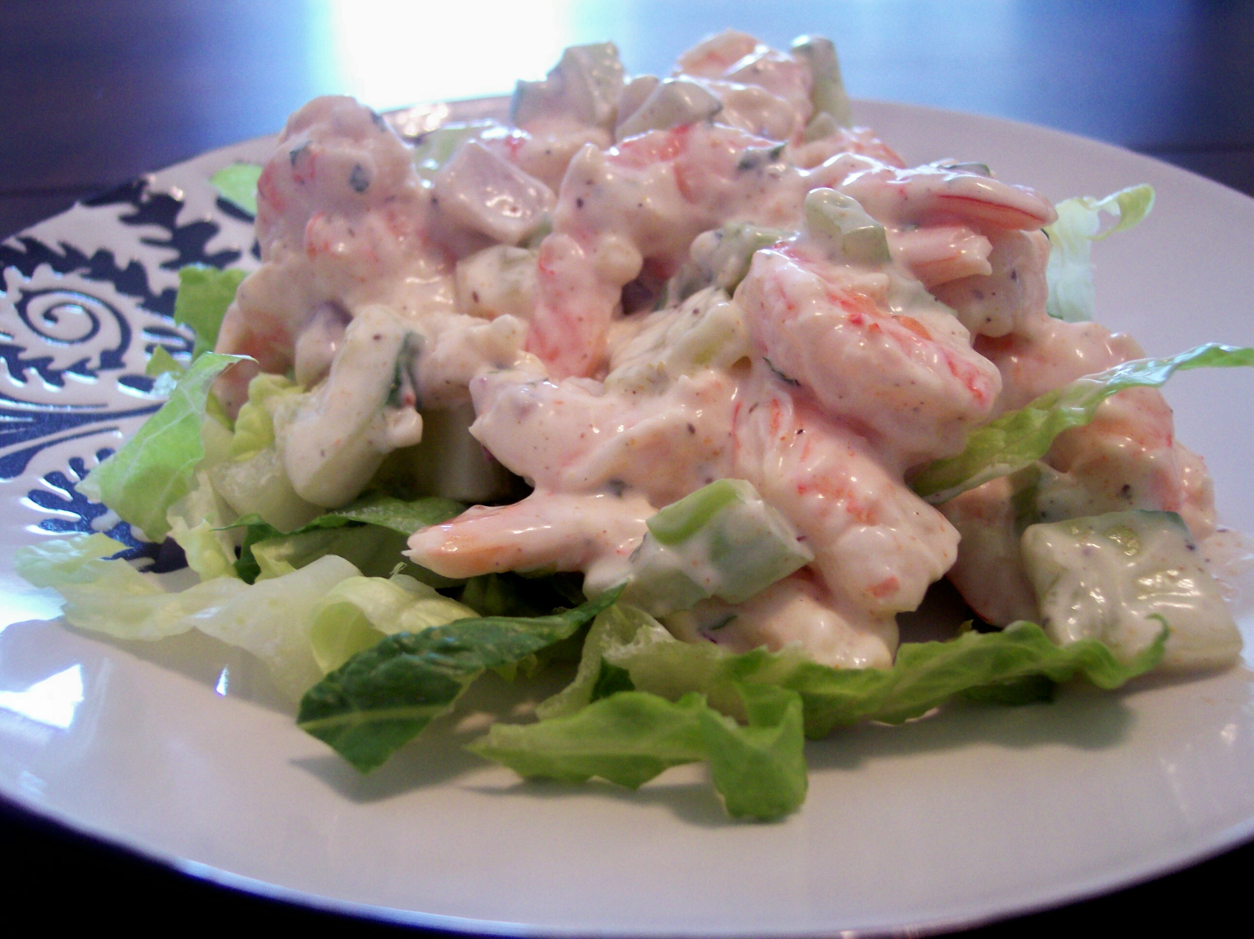 Low Carb Shrimp Salad with Aioli Mayonnaise
