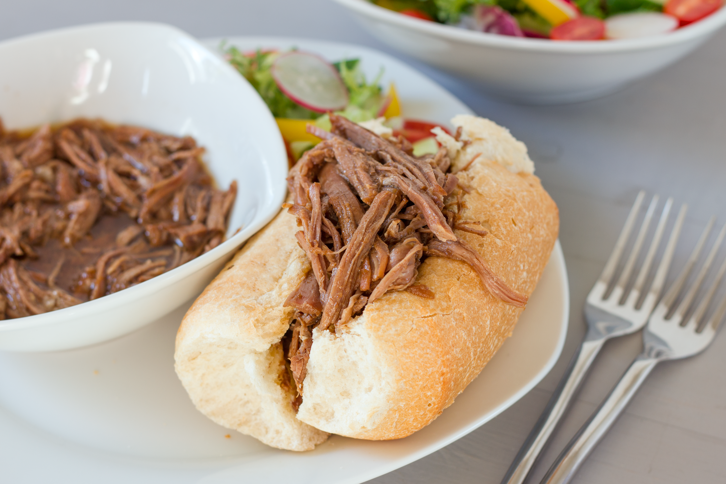 Shredded French-Dip Sandwiches Recipe