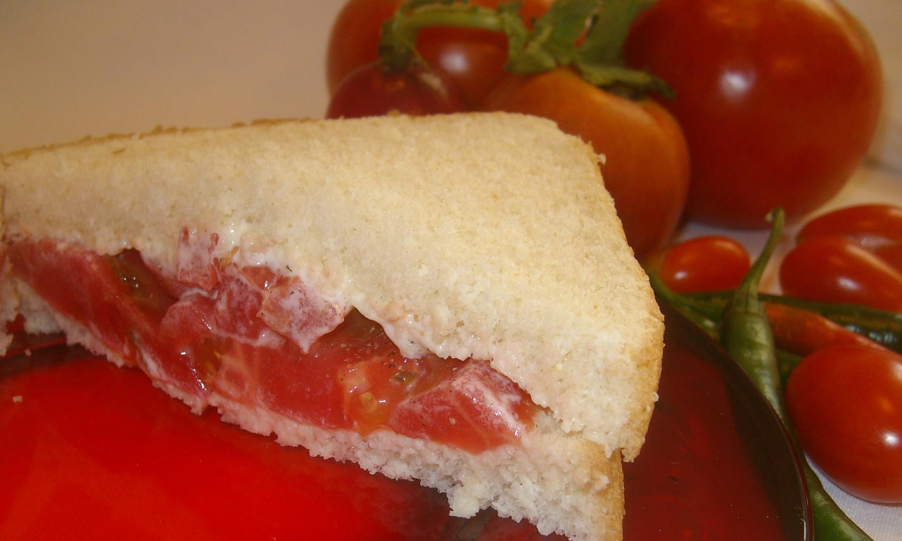 2- Handed Kitchen Sink Tomato Sandwich