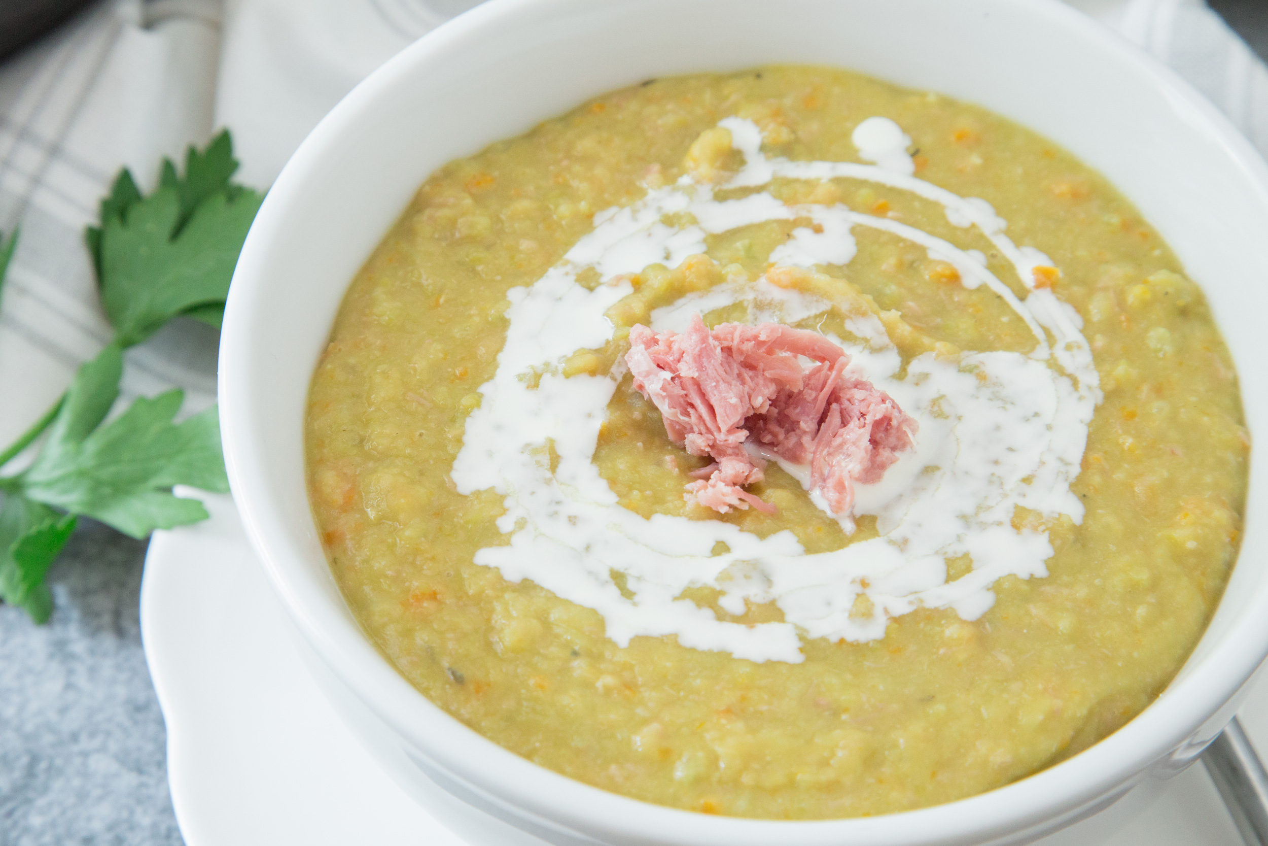 Uncle Bill's Green Split Pea With Hambone Soup Recipe