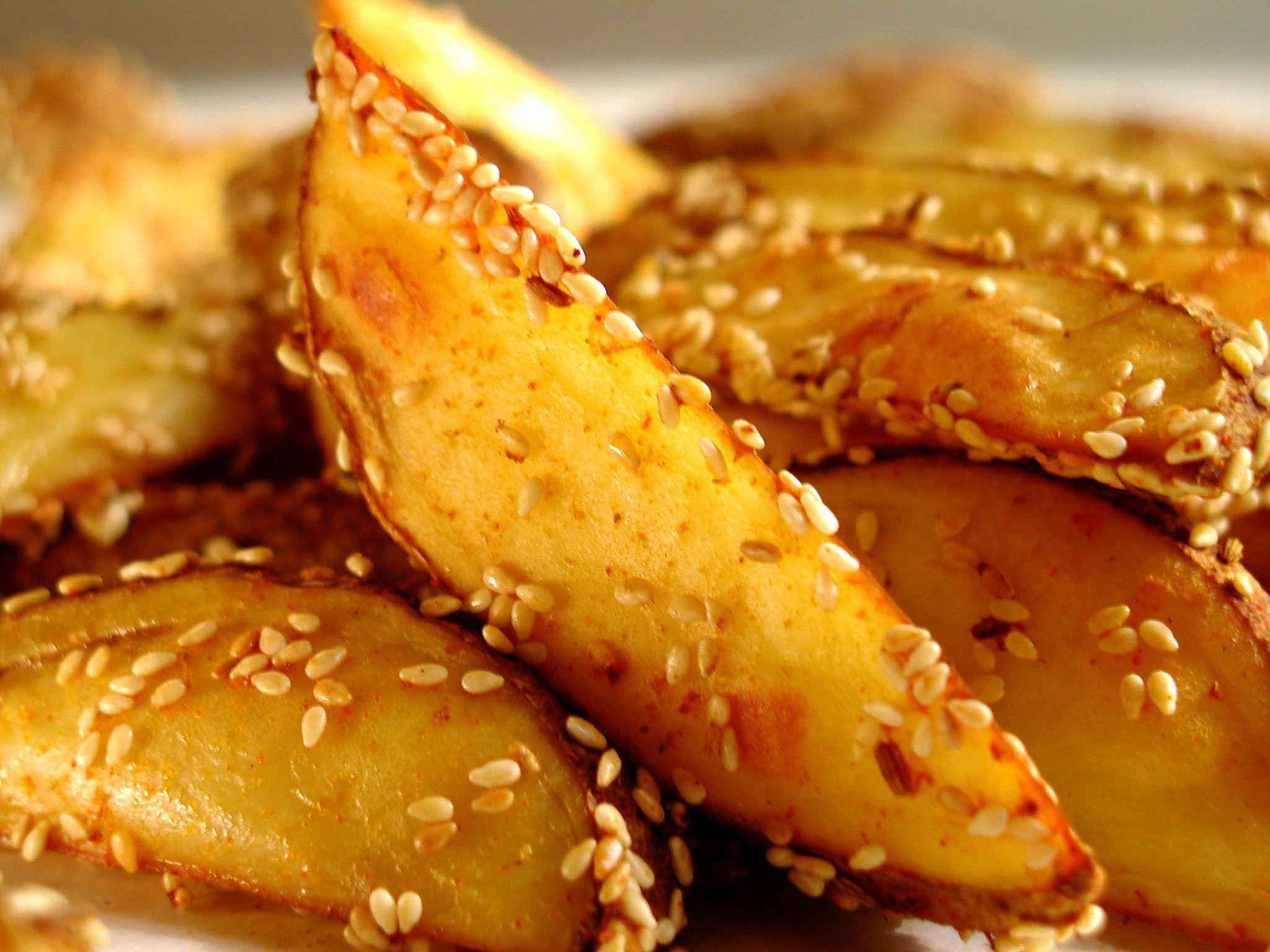 Картофель с кунжутом пошаговое фото