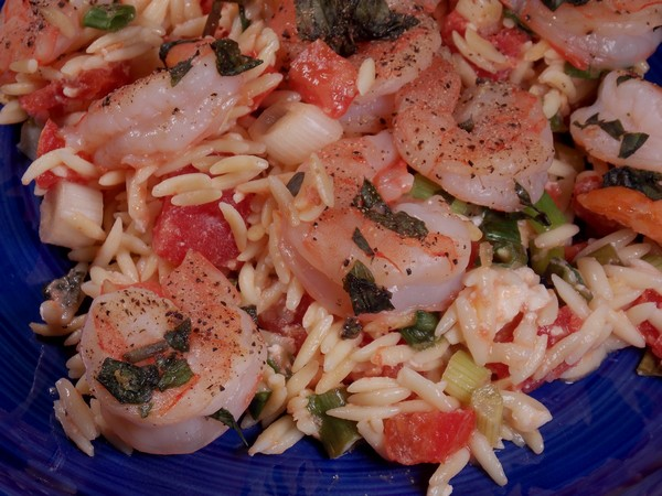 Basil Shrimp with Feta and Orzo Recipe