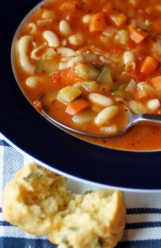 Uncle Bill's Vegetarian Minestrone Soup Recipe