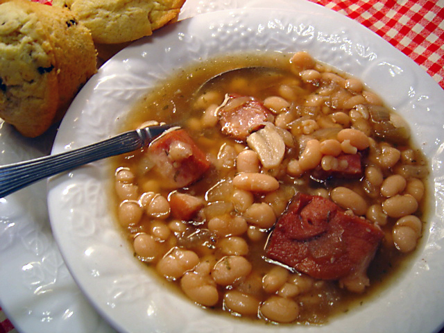 Crock Pot Ham and Beans Recipe