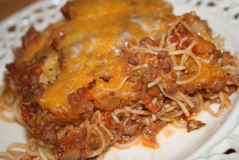 Baked Spaghetti by Paula Deen