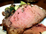 Prime Rib Roast Beef With Fresh Garlic and Rosemary