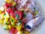 Garlic Lime Grilled Chicken With Mango Salsa