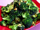 Broccoli Roasted With Garlic, Chipotle Peppers and Pine Nuts