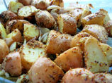 Mustard-Crusted Roast New Potatoes With Shallots and Garlic