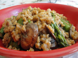 Risotto With Asparagus and Porcini Mushrooms